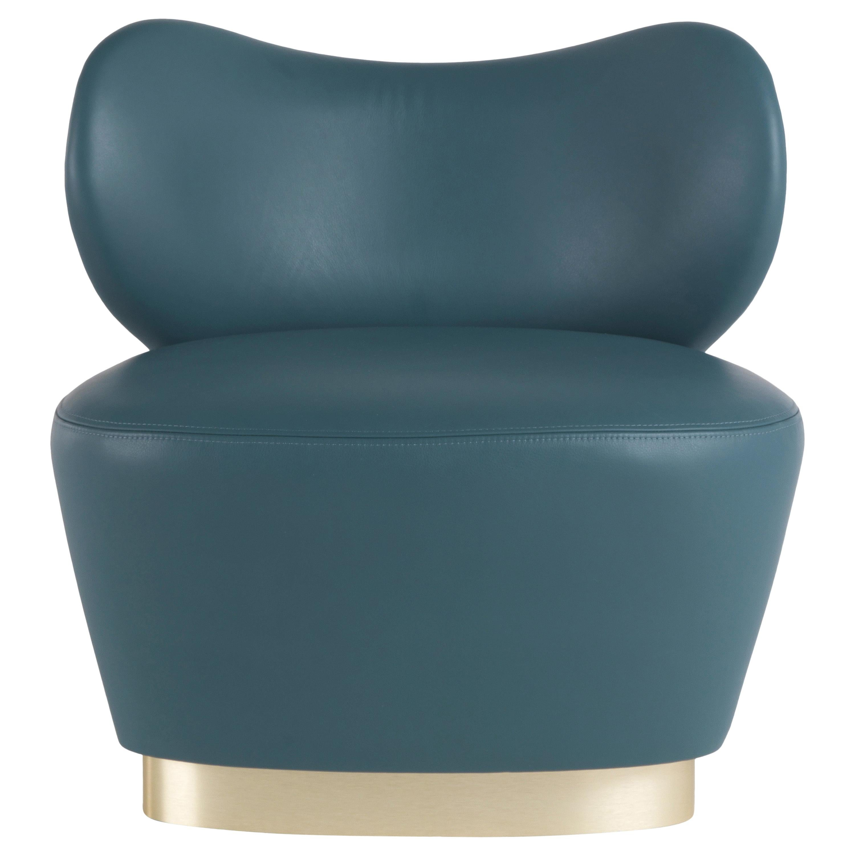 Gianfranco Ferré Home Baglioni Armchair in Leather and Fabric