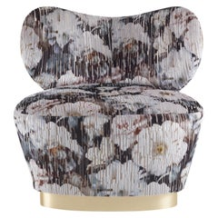 Gianfranco Ferré Home Baglioni Armchair in Knotted Spring Stripe fabric
