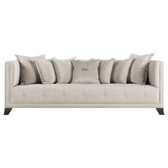 Gianfranco Ferré Home Barney 3-Seater Sofa in Clear Winter Cotton