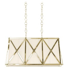 Gianfranco Ferré Home Betty Rectangular Chandelier in Brass and Iron