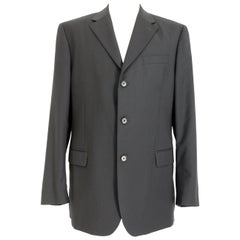 Gianfranco Ferre Blue Wool Evening Oversize Classic Jacket