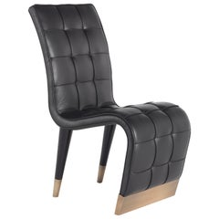 Gianfranco Ferré Home Bonnie_2 Chair in Black Wild Leather