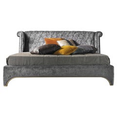 Gianfranco Ferre Bradmore Bed in Wood with Fabric Upholstery