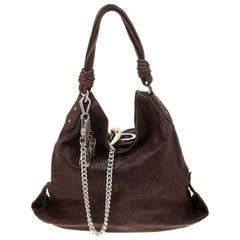 Gianfranco Ferre Brown Leather Hobo