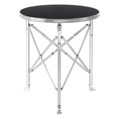 Gianfranco Ferré Home Bryan Side Table in Metal with Top in Lacquered finishing