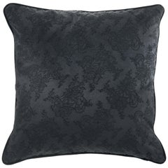 Gianfranco Ferré Home Burlesque Black Cushion in Silk and Lace