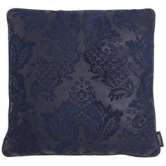Gianfranco Ferré Home Burlesque Blue Cushion in Silk and Lace