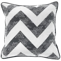 Gianfranco Ferré Burlesque Chevron Cushion in Silk and Lace