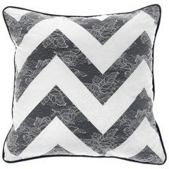 Gianfranco Ferré Burlesque Chevron Cushion in Silk and Lace