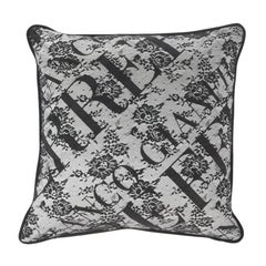Gianfranco Ferré Burlesque Macro Pillow in Grey and White in Silk and Lace