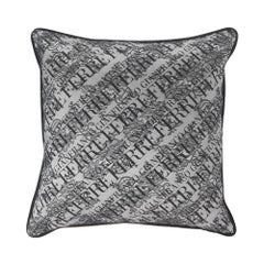 Gianfranco Ferré Burlesque Small Pillow in Grey and White in Silk and Lace