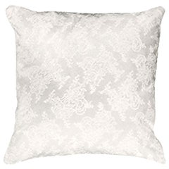 Gianfranco Ferré Home Burlesque White Cushion in Silk and Lace