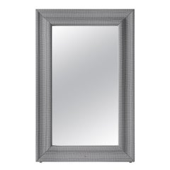 Gianfranco Ferré Byron Mirror in Wood with Frame in Jacquard Fabric