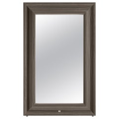 Gianfranco Ferré Byron Mirror in Wood with Frame in Wool Iconic Cotton