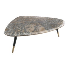 Gianfranco Ferré Camberwell Center Table in Grey Cloudy Onyx