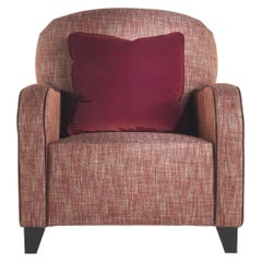 Gianfranco Ferré Home Cardiff Armchair in Woven Chevron Lobster fabric