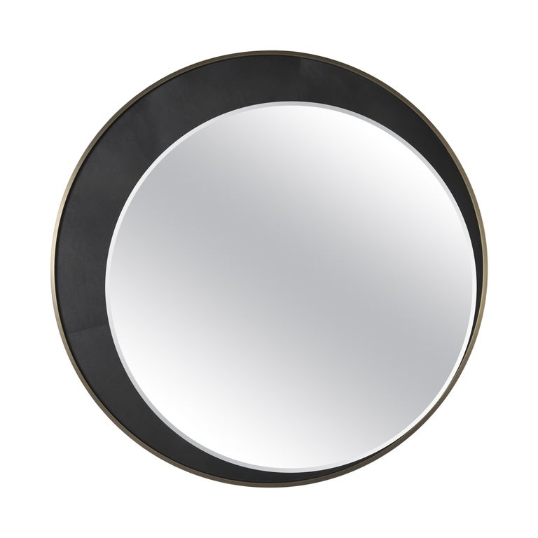 Gianfranco Ferré Home Carroll Mirror covered in Leather For Sale