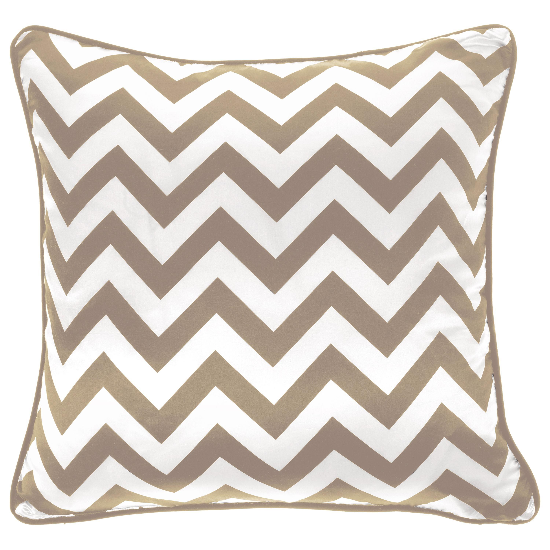 Gianfranco Ferré Home Chevron Large Beige Cushion in Silk and Velvet