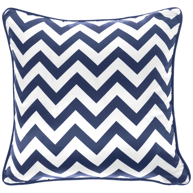 Gianfranco Ferré Home Chevron Large Blue Cushion in Silk and Velvet