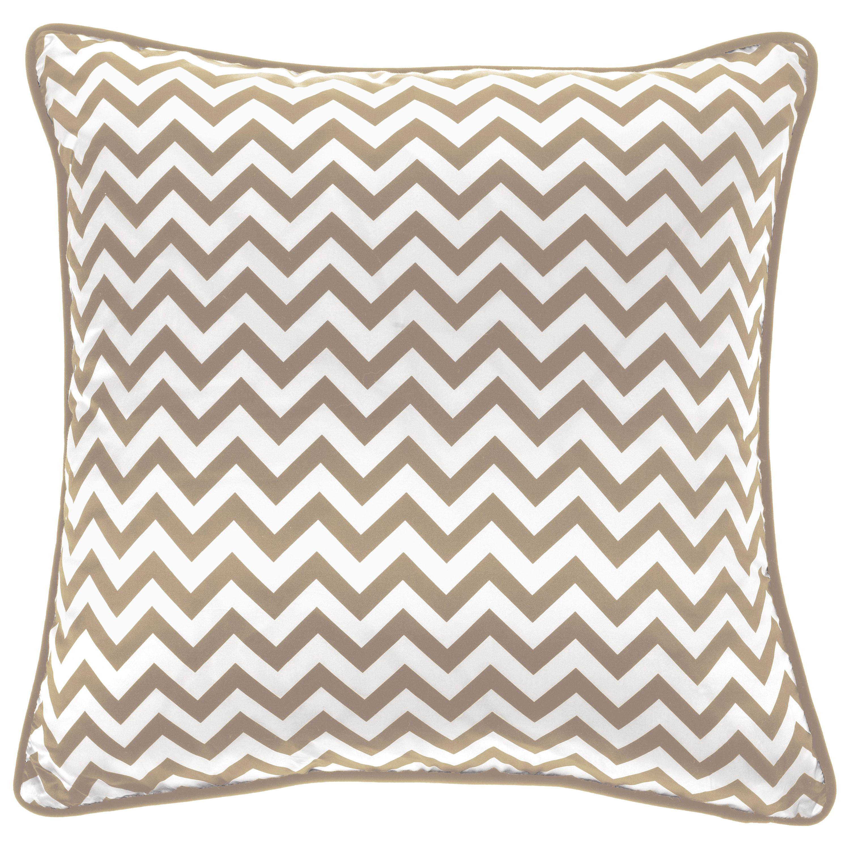 Gianfranco Ferré Home Chevron Medium Beige Cushion in Silk and Velvet