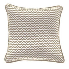 Gianfranco Ferré Chevron Small Pillow in Beige & White Stripes in Silk & Velvet