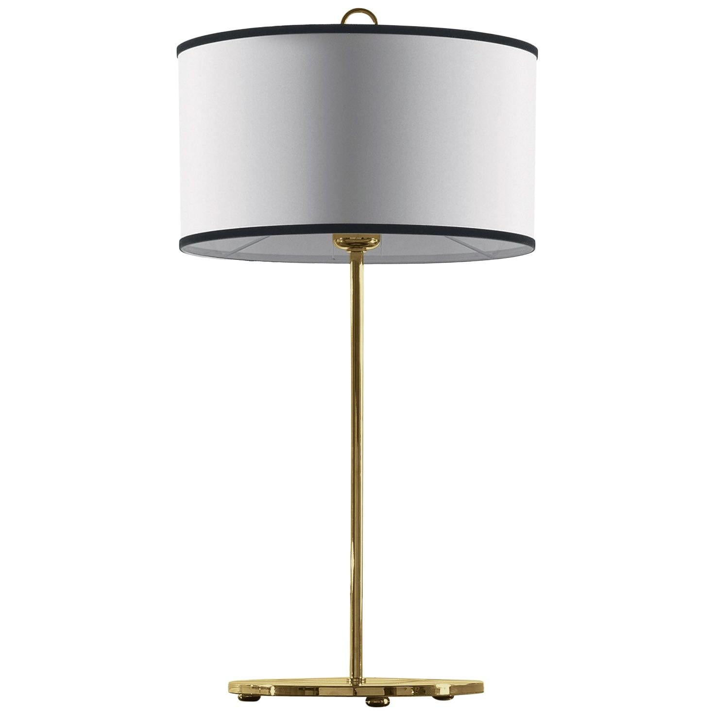 Gianfranco Ferré Home Cindy Table Lamp in Brass and Iron in Gold Finish