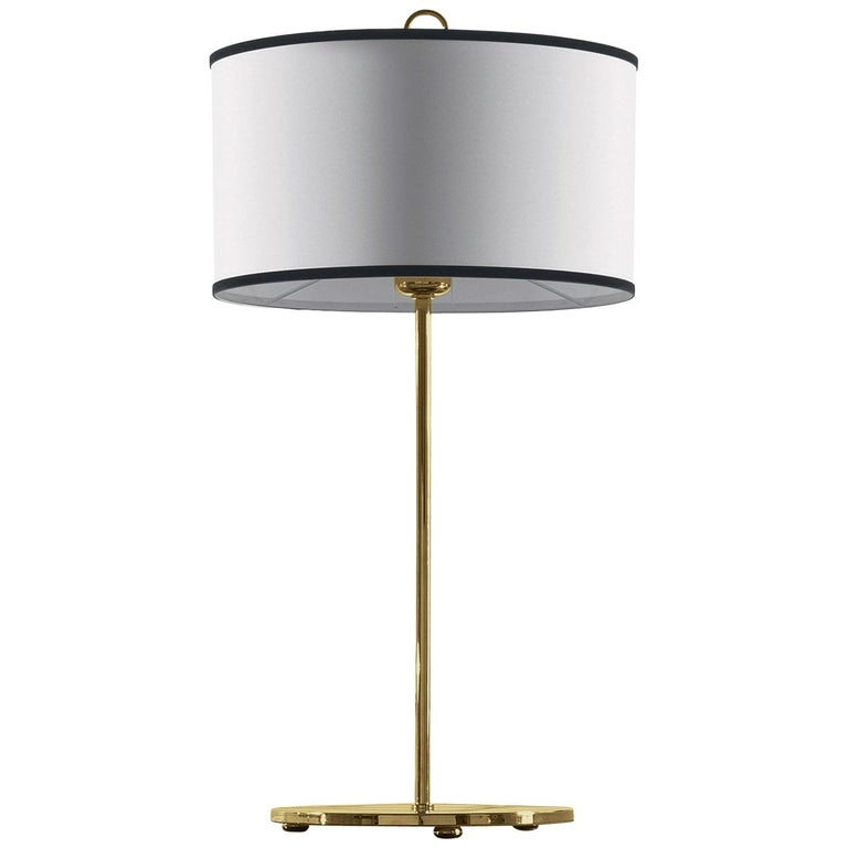 Gianfranco Ferré Home Cindy Table Lamp in Brass and Iron in Gold Finish For Sale