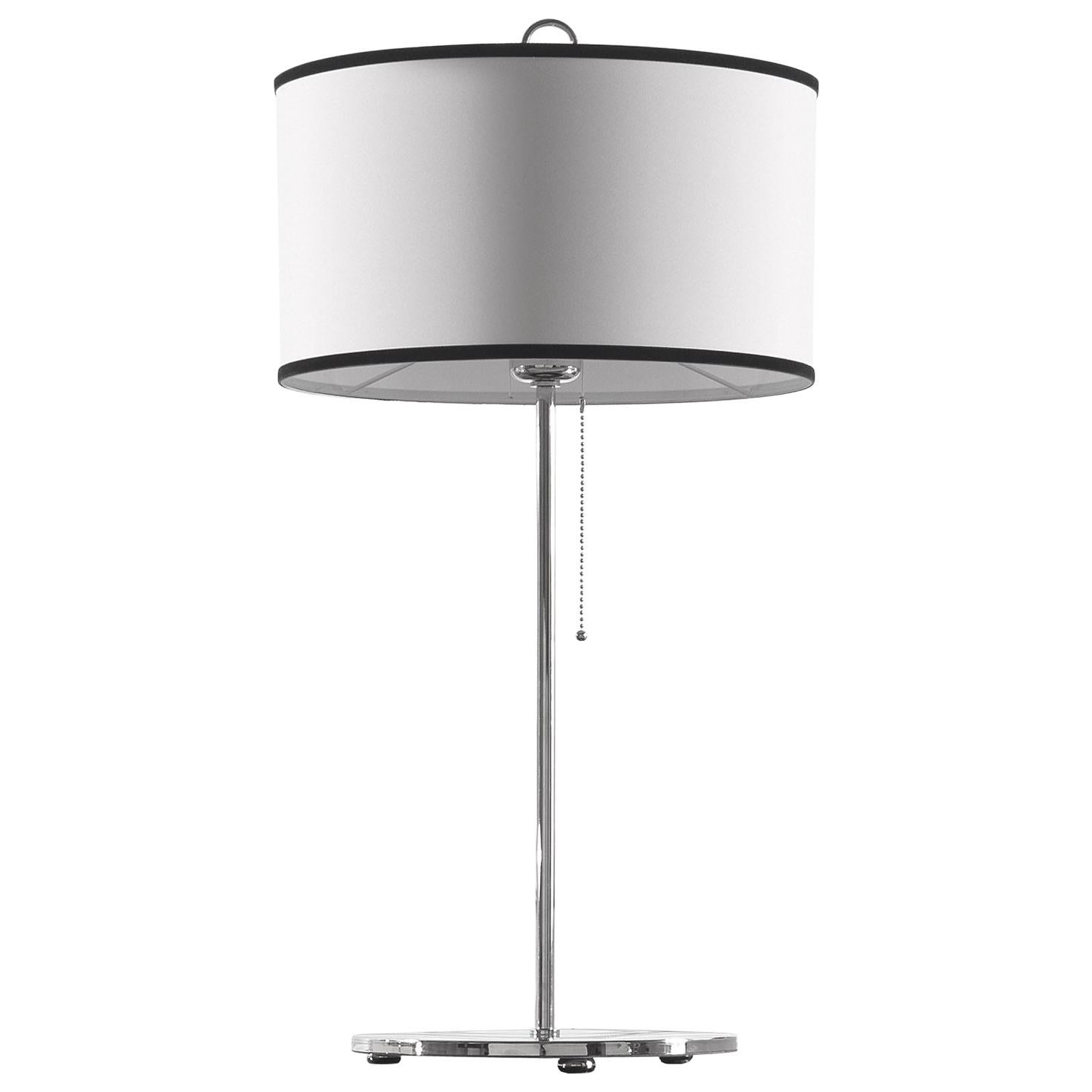 Gianfranco Ferré Home Cindy Table Lamp in Brass and Iron in Nickel Finish