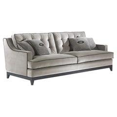 Gianfranco Ferré Clark Sofa in Velvet Cotton Upholstery