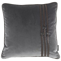 Gianfranco Ferre Coney Cushion in Fabric and Leather