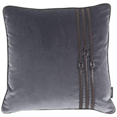 Gianfranco Ferré Coney Pillow in Dark Brown Fabric