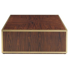 Gianfranco Ferré Home Connor Square Center Table in Rosewood