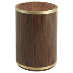 Gianfranco Ferré Connor Tall Round Side Table in Poplar Veneered in Rosewood