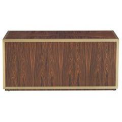 Gianfranco Ferré Connor Rectangular Side Table in Poplar Veneered in Rosewood