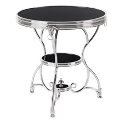 Gianfranco Ferré Home Convent Side Table in Metal and Top in Lacquered Wood
