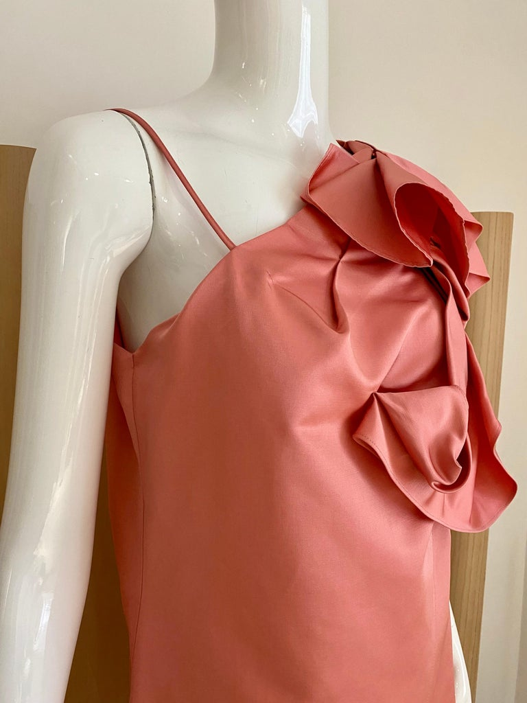 Women's Gianfranco Ferre Coral silk cocktail Dress For Sale
