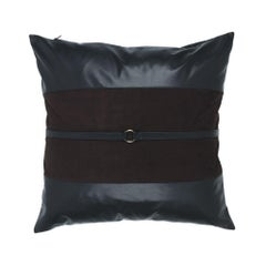 Gianfranco Ferrè Coreen Pillow in Dark Brown Suede