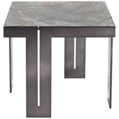 Gianfranco Ferré Home District VII Side Table in Metal and Onyx Top