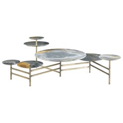 Gianfranco Ferré Home Doyle Center Table in Metal and Marble Top