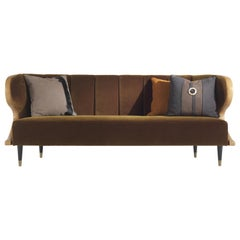 Gianfranco Ferré Home Dunlop Sofa in Fabric and Leather