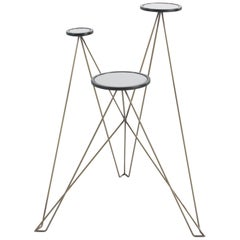 Gianfranco Ferré Home Eiffel Side Table in Metal and Wood