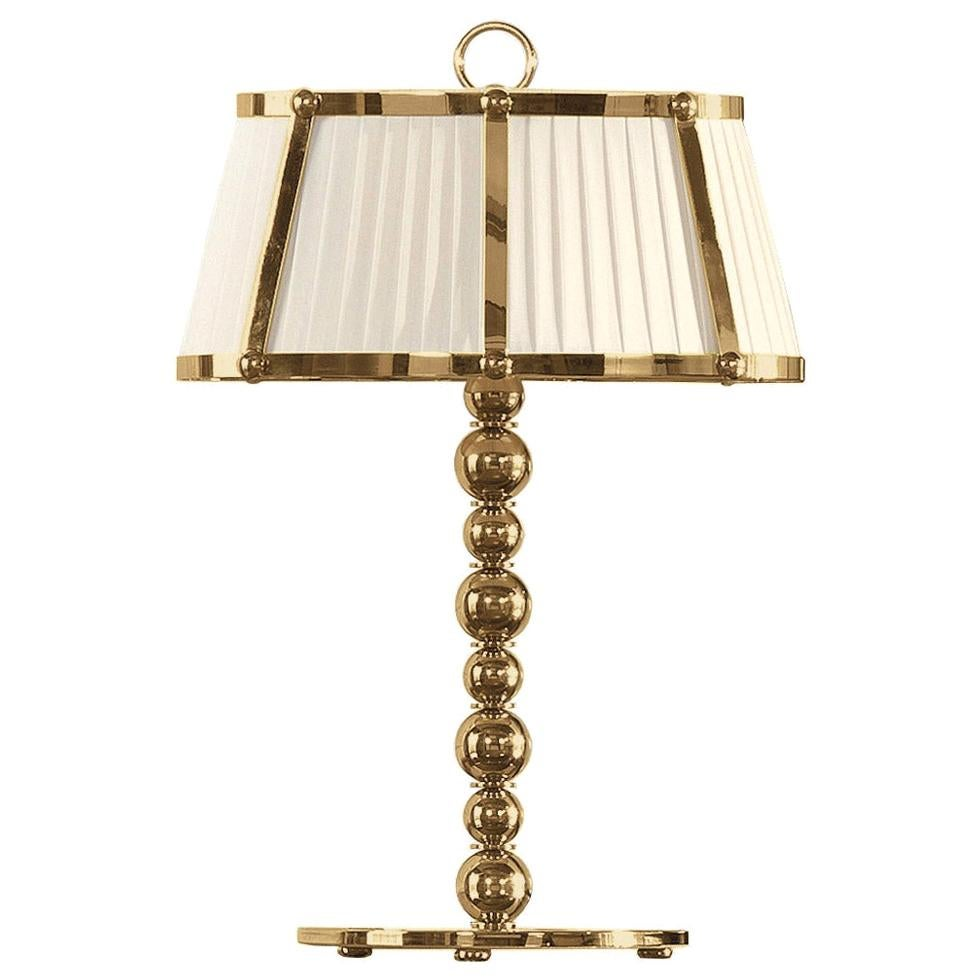 Gianfranco Ferré Home Evelyn Table Lamp in Brass and Iron in Gold Finish