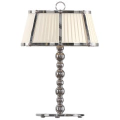 Gianfranco Ferré Home Evelyn Table Lamp in Brass and Iron in Nickel Finish