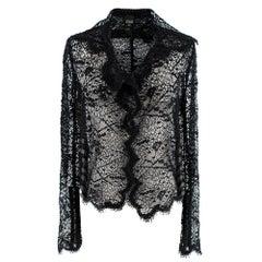 Gianfranco Ferre Eyelash Lace Sheer Jacket 40