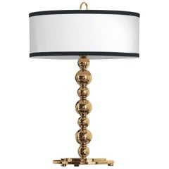 Gianfranco Ferré Fanny Table Lamp in Brass and Iron in Gold Finish