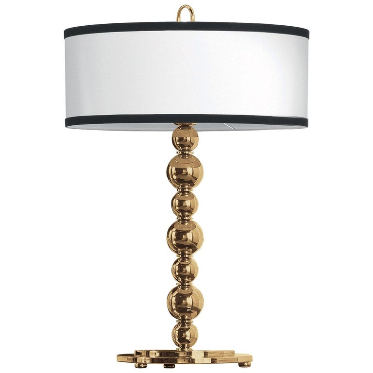 Gianfranco Ferré Home Fanny Table Lamp in Brass and Iron in Gold Finish For Sale