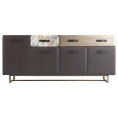 Gianfranco Ferré Five Points Sideboard in Wood and Metal