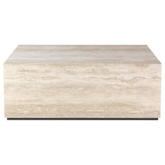 Gianfranco Ferré Home Flair Side Table in Wood covered in Porcelain Stoneware