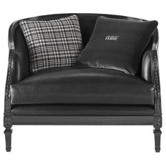 Gianfranco Ferré Freddy Armchair in Leather Upholstery