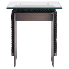 Gianfranco Ferré Home Glasgow Side Table in metal with bronzed finishing